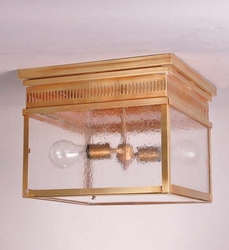 Elryan Rectangle Flush Mount Light with Clear Seeded Glass in Two Styles