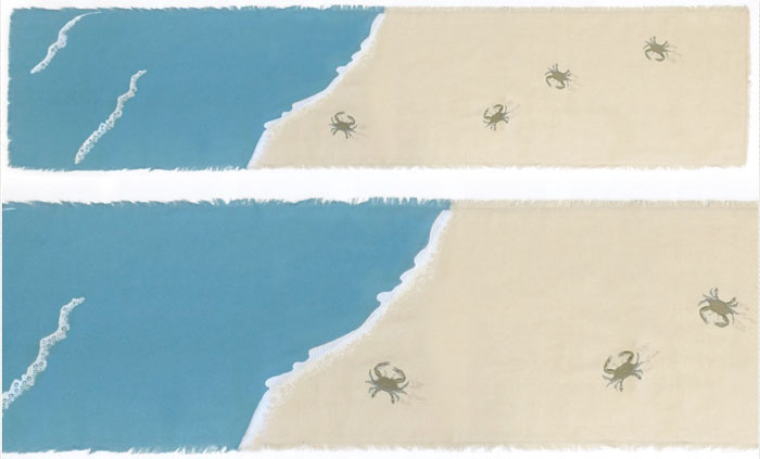 Embroidered Blue Crab Table Runner With Placemat Option   For Sale    Cottage U0026 Bungalow
