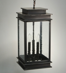 Empire 3-Light Hanging Lantern with Clear Seedy Glass