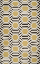 Fallon Lime, Dark Brown & Beige Flat Pile Rug