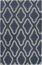 Fallon Marine Blue/Winter White Flat Pile Rug