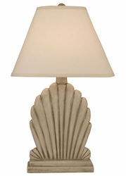 Fan Shell Table Lamp in Seastone