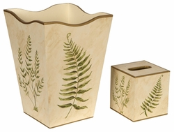 Ferns on Ivory Background Bath Set<font color=cf2317> Discontinued</font>