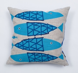 Fish Pillow Linen