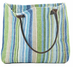Fisher Ticking Woven Cotton Tote Bag<font color=cf2317> 20% OFF</font>