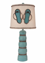 Five Ball Pot with Weathered Rope Lamp