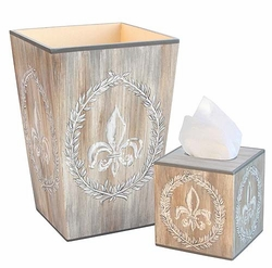 Fleur De Lis Bath Set <font color=cf2317> Discontinued</font>