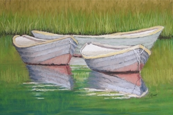 Floating Skiffs Giclee