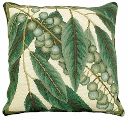 Floral Study 1 Needlepoint Pillow