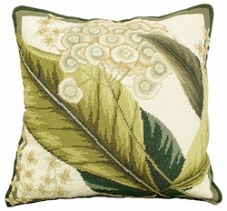 Floral Study 3 Needlepoint Pillow