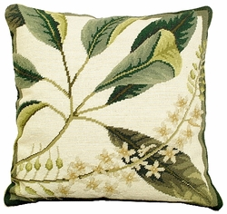 Floral Study 4 Needlepoint Pillow