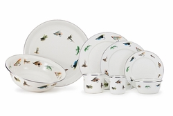 Fly Fishing Enamelware Dinner Collection<font color=cf2317> NEW</font>
