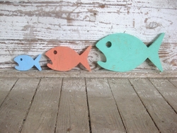 Food Chain Wood Art Beach Sign