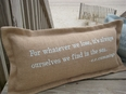 For Whatever We Lose Coastal Phrase Pillow