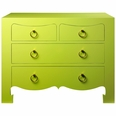 Jacqui 4-Drawer Chest in Spring Green