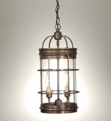 Foyer 2-Light Round Hanging Light Fixture