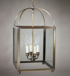 Foyer Four-Light Square Hanging Lantern