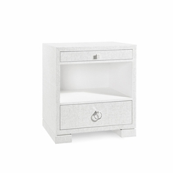 Frances Two Drawer Side Table in Three Colors