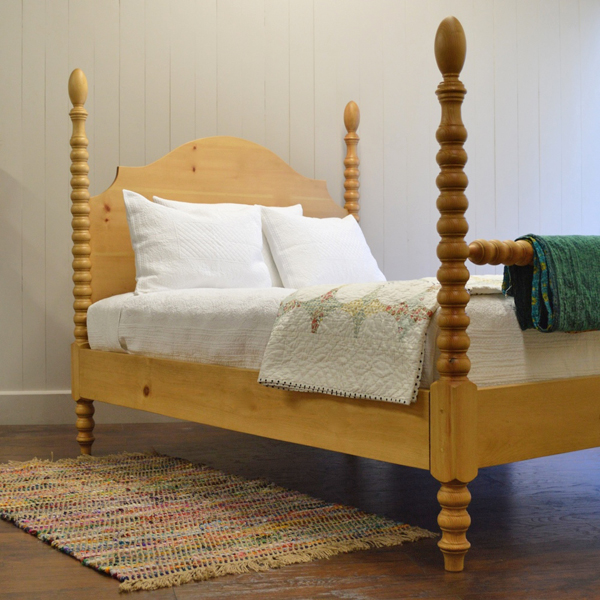 french farm spindle bed for sale - cottage & bungalow