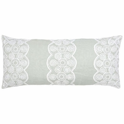 French Knot Sky Double Boudoir Pillow