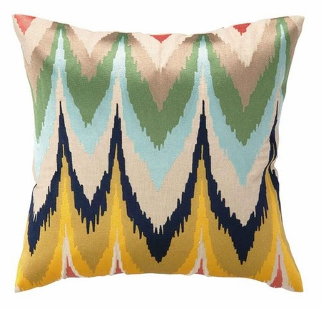 Frequency Embroidered Pillow