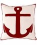 Dash and Albert Admiral Red/Ivory Indoor/Outdoor Pillow <font color=CF2317> 20% Off</font>