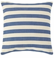 Dash and Albert Trimaran Stripe Denim/Ivory Indoor/Outdoor Pillow <font color=CF2317> 20% Off</font>