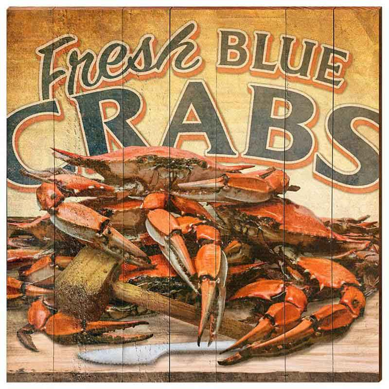 Fresh Blue Crabs Beach Wall Art for sale - Cottage & Bungalow