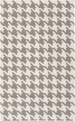 Frontier Elephant Gray Houndstooth Flat Pile Rug