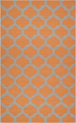 Frontier Flint Gray/Bright Orange Flat Pile Rug