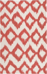 Frontier Bright Orange/Winter White Flat Pile Rug