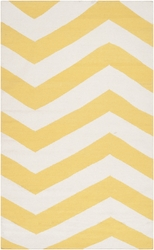 Frontier Sunshine Yellow/White Flat Pile Rug