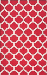 Frontier Venetian Red/Oatmeal Classic Flat Pile Rug
