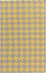 Frontier Yellow & Grey Houndstooth Flat Pile Rug