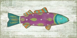 Funky Fish Pink/Purple Vintage Sign