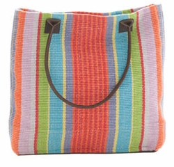 Garden Stripe Woven Cotton Tote Bag<font color=a8bb35> 20% OFF</font>