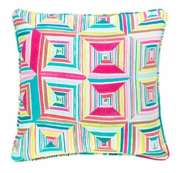 Geo Floral Bright Pillow or Lumbar Pillow