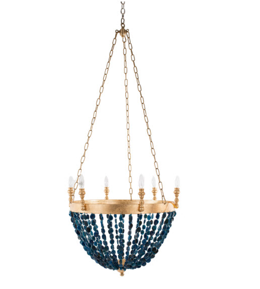 Gigi blue agate agate chandelier for sale cottage bungalow gigi blue agate beaded chandelier aloadofball Gallery