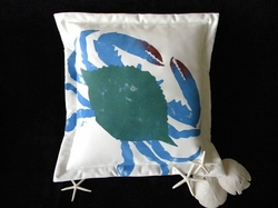 Girl Blue Crab Indoor/Outdoor Pillow