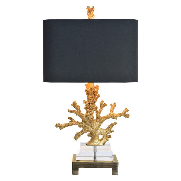 Gold coral table lamp for sale cottage bungalow aloadofball Images