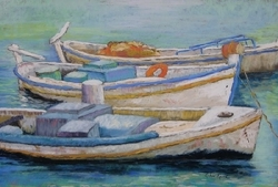 Greek Fishing Boats Giclee
