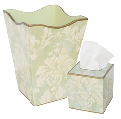 Green Floral Bath Set<font color=cf2317> Discontinued</font>