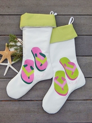 Green or Pink Flipflop Stocking