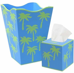 Green Palm Tree Bath Set <font color=cf2317> Discontinued</font>