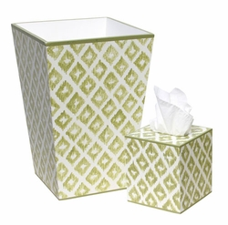 Green Washed Diamond Pattern Bath Set<font color=cf2317> Discontinued</font>