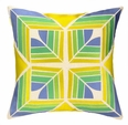 Gridley Lime Embroidered Pillow