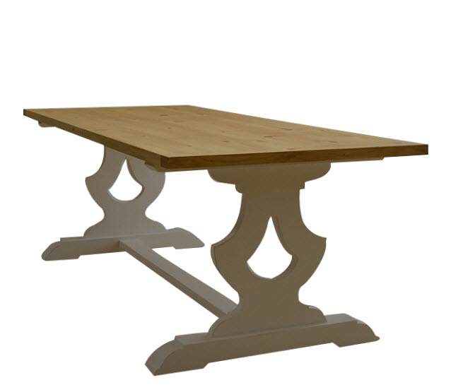Gustavian Farm Dining Table In Two Sizes For Sale Cottage Bungalow