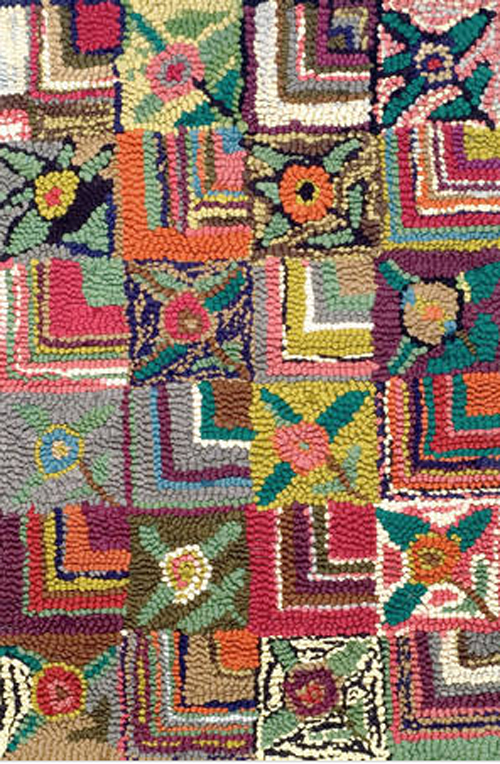 Dash And Albert Gypsy Rose Cotton Hooked Rug For Sale