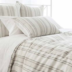 Hampton Ticking Natural Linen Duvet Cover