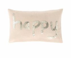Happy Sequin Pillow